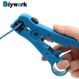 FREE SHIPPING Electric Cable Wire Stripping Tool Cutter Striper for UTP/STP RG59 RG6 RG7 RG11 Cable