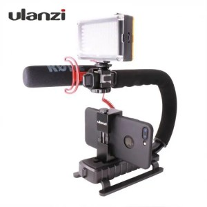 Accessories Ulanzi U-Grip Triple Shoe Mount Video Action Stabilizing Handle Grip Rig Action