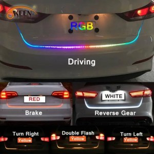 Accessories RGB LED colorful dynamic turn tail light blinker strip for car trunk 47.6 inch blinker