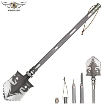 FREE SHIPPING EAGLE Professional outdoor survival Tactical Multifunctional Shovel folding Tools Garden camping equipment Army tool Camping