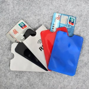 FREE SHIPPING 5pcs Colorful Anti Rfid Wallet Blocking Reader Lock Bank Card Holder Id Case Protection Metal Credit Card Holder Aluminium Free shipping
