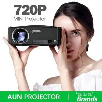 FREE SHIPPING AUN C80  HD MINI Projector, 1280x720P, Video Beamer 1080P, HDMI, USB Free shipping