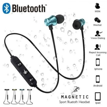 FREE SHIPPING Magnetic attraction Bluetooth Earphone Headset waterproof sports 4.2 with Charging Cable Young Build-in Mic Bluetooth Headphone Free shipping
