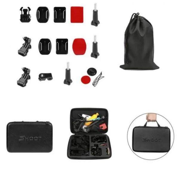 Accessories SHOOT Action Camera Accessory for GoPro Hero 7 6 5 4 Black Xiaomi Yi 4K Lite 2 SJCAM SJ7 Eken H9 Go Pro Mount for Sony Nikon Set Free shipping