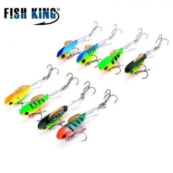 FREE SHIPPING FISH KING Winter Ice Fishing Lure 3D Eyes Colorful AD-Sharp Winter Jig Bait Hard Lure Balancer  Fishing Bait For Ice Fishing 2019