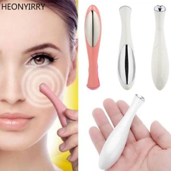 FREE SHIPPING Beauty Mini Eye Massage Device Pen Type Electric Eye Massager Facials Vibration Thin Face Magic Stick Anti Bag Pouch & Wrinkle Anti Aging