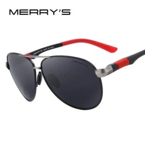 Car & Motorbike MERRYS DESIGN Men Classic Pilot Sunglasses HD Polarized Sunglasses For Driving Aviation Alloy Frame Spring Legs UV400 S8404 American