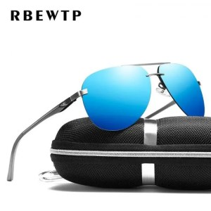 Car & Motorbike RBEWTP Alloy Frame Classic Driver Sunglasses Polarized Coating Mirror Frame Eyewear aviation Sun Glasses For Women Men American