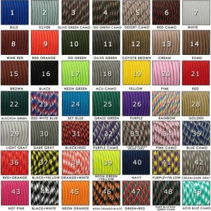 FREE SHIPPING YOUGLE 550 Paracord Parachute Cord Lanyard Tent Rope Guyline Mil Spec Type III 7 Strand 100FT For Hiking Camping 215 Colors 550