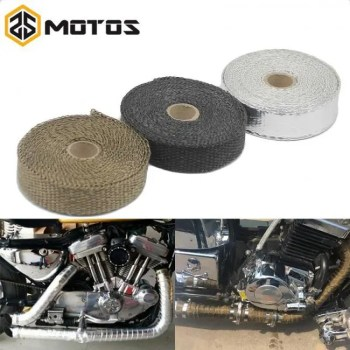 FREE SHIPPING ZS MOTOS 1.5 mm*25 mm*5 m Exhaust Pipe Header Heat Wrap Resistant Downpipe  Stainless Steel Ties for Car Motorcycle Accessories Free shipping