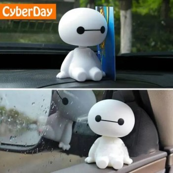 FREE SHIPPING Cartoon Plastic Baymax Robot Shaking Head Figure Car Ornaments Auto Interior Decorations Big Hero Doll Toys Ornament Accessories Accessories