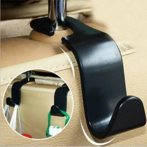 Accessories Car Seat Back Hooks Vehicle Hidden Headrest Hanger for Handbag Shopping Bag Coat Storage Hanger Car Accessories Hook Organizer Car