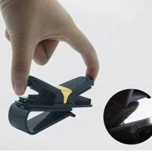 Car & Motorbike Car Glasses Clips Carbon Fiber Card Pen Holder 180 Degree Rotate Dual Side Clips Sun Visor Vehicle Accessory Car Organizer Clips 180 Degree
