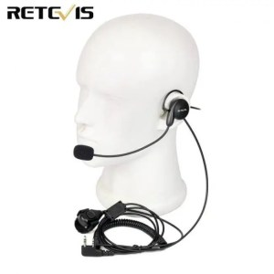 Walkie Talkie Retevis 2 Pin Earpiece Mic Finger PTT Headset for Kenwood BAOFENG UV-5R BF-888s Retevis H777 TYT Ham Radio Walkie Talkie C9029A 2-Pin