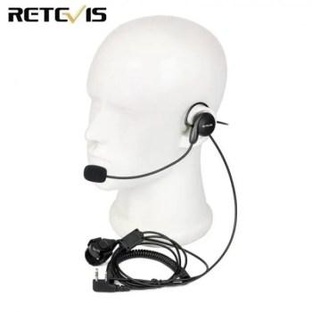 FREE SHIPPING Retevis 2 Pin Earpiece Mic Finger PTT Headset for Kenwood BAOFENG UV-5R BF-888s Retevis H777 TYT Ham Radio Walkie Talkie C9029A 2-Pin