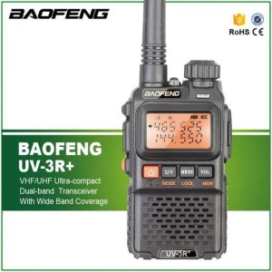 Walkie Talkie BaoFeng UV-3R Plus Walkie Talkie Portable UHF VHF UV 3R+ CB Radio VOX Flashlight Mini FM Transceiver Ham Radio cellphone