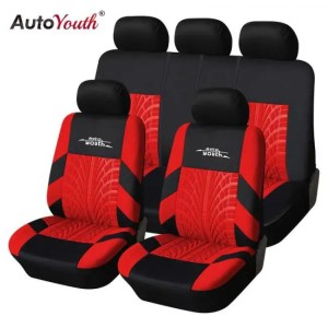 Covers AUTOYOUTH Fashion Tire Track Detail Style Universal Car Seat Covers Fits Most Brand Vehicle Seat Cover Car Seat Protector 4color Auto