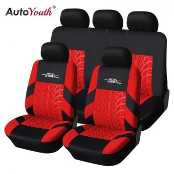 FREE SHIPPING AUTOYOUTH Fashion Tire Track Detail Style Universal Car Seat Covers Fits Most Brand Vehicle Seat Cover Car Seat Protector 4color Auto