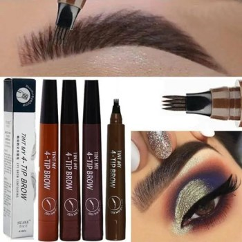 FREE SHIPPING Microblading Eyebrow Pen Waterproof Fork Tip Eyebrow Tattoo Pencil Long Lasting Professional Fine Sketch Liquid Eye Brow Pencil discount
