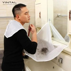 FREE SHIPPING 1 PC Beard and Mustache Catcher Apron Cape Bib for shave with Suction Cups Attach to Mirror for Bearded 120*75 CM discount