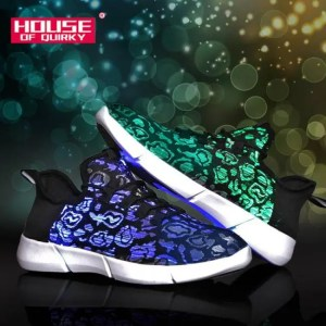 FREE SHIPPING Size 25-46 Summer Led Fiber Optic Shoes for Girls Boys Men Women USB Recharge Glowing Sneakers Man Light Up Shoes Sports Shoes discount
