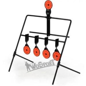 FREE SHIPPING Hot Sale 5 Targets Self Resetting Spinning Air Gun Rifle Shooting Metal Target Set For Practice/Playing discount