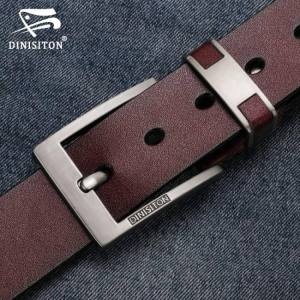 FREE SHIPPING DINISITON Cow Genuine Leather Belts For men Luxury Men's Belt Leather Belt Alloy Buckle Casual Male Vintage Strap ceinture homme Free shipping