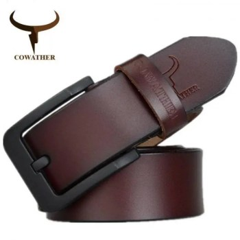 FREE SHIPPING COWATHER male belt for mens high quality cow genuine leather belts  XF010 Free shipping