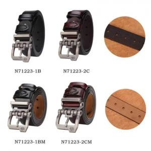 FREE SHIPPING BISON DENIM genuine leather belt for men gift designer jeans belts men's high quality Cowskin Personality buckle Vintage N71223 Free shipping