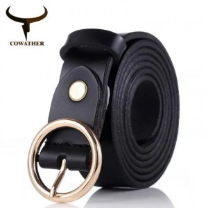 FREE SHIPPING COWATHER women belts cow genuine leather good quality alloy pin buckle fashion style design cinto feminino original brand Belt