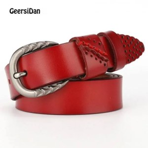 FREE SHIPPING GEERSIDAN New genuine leather pin buckle Women's belt Casual Fashion cowskin waistband belt for women high quality female girdle Belt