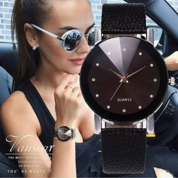 FREE SHIPPING Vansvar Women Watch Luxury Brand Casual Simple Quartz Clock For Women Leather Strap Wrist Watch Reloj Mujer Drop Shipping [tag]