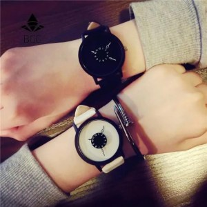 FREE SHIPPING Hot fashion creative watches women men quartz-watch BGG brand unique dial design minimalist lovers' watch leather wristwatches [tag]