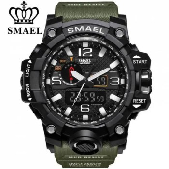 FREE SHIPPING SMAEL Brand Men Sports Watches Dual Display Analog Digital LED Electronic Quartz Wristwatches Waterproof Swimming Military Watch [tag]