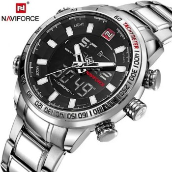 FREE SHIPPING NAVIFORCE Mens Quartz Analog Watch Luxury Fashion Sport Wristwatch Waterproof Stainless Male Watches Clock Relogio Masculino [tag]