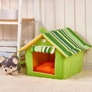 FREE SHIPPING New Fashion Striped Removable Cover Mat Dog Cat House Bed For Small Medium Pets Bed