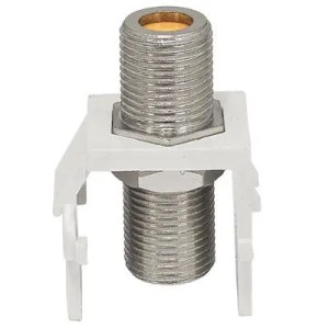 RG6 RG11 DTVF81K-05  F Connector Modular Insert HF (White), Bag of 100 Compression