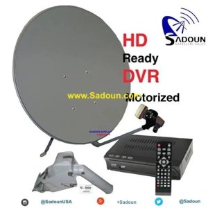 Motorized M-1 Motorized HDTV FTA Free To Air Ethnic International Satellite System Kit 1-Room