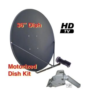 Motorized Kit MKit-1 90cm Motorized FTA Satellite Dish Kit 2019