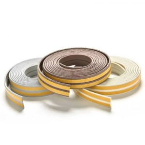 FREE SHIPPING Doors Windows Foam Rubber Seal Strip 2.4m (95″) Self Adhesive for Soundproofing Doors