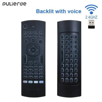 FREE SHIPPING PULIERDE MX3 Pro 2.4GHz English Wireless Keyboard IR learning extend Remote Control Backlit With Voice Mini Air Mouse For TV Box control