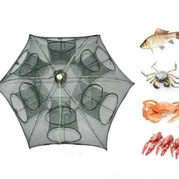 FREE SHIPPING Easy Fold Crab Shrimp Fishing Trap Net carp