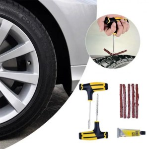 Car & Motorbike Tubeless Emergency Car Tire Puncture Repair Tool Kit Car