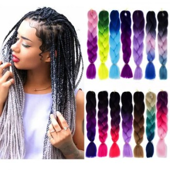FREE SHIPPING 24 inch Jumbo Braiding Crochet Hair 100g/Pack Blonde Grey Synthetic Twists Hair Extensions 100gPack