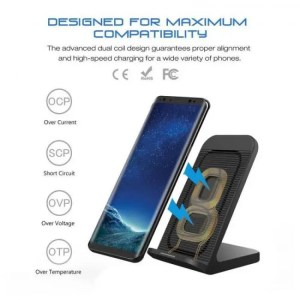Charge DCAE 10W Wireless Charger For Samsung Galaxy S9 S8 Note 9 8 Qi Wireless Charging Dock For iPhone X XS Max 8 Plus XR USB Charger free