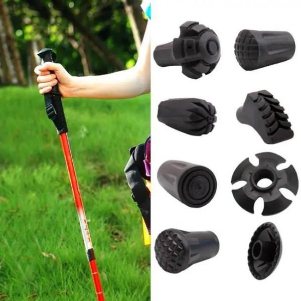FREE SHIPPING Outdoor Hiking Walking Sticks Tips Protectors Adjustable Head Protecter Tools Adjustable