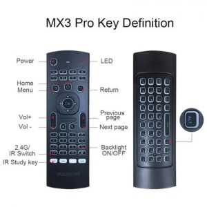 Controls PULIERDE MX3 Pro 2.4GHz English Wireless Keyboard IR learning extend Remote Control Backlit With Voice Mini Air Mouse For TV Box control