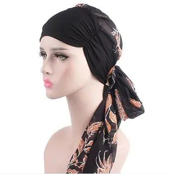 FREE SHIPPING Turban Long Hair Band Head Wraps Hat Boho Pre-Tied Scarf Bandana Hair Accessories for Women Accessories