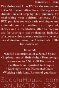 Shrine and Altar DVD Back Cover