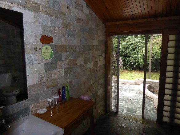 the bathroom and exit to the garden
